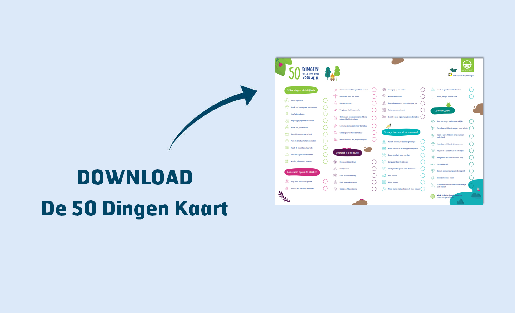 Download de 50 Dingen Kaart