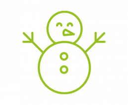2. Maak een knotsgekke sneeuwman