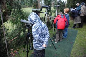 Vogels kijken met de telescoop