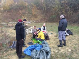 Vrijwilligers op de Dag van de Natuur 2018-Groeve Ganzemans