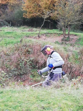 Beheerwerken met bosmaaier