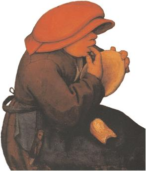 Bruegel: kind met papschaal