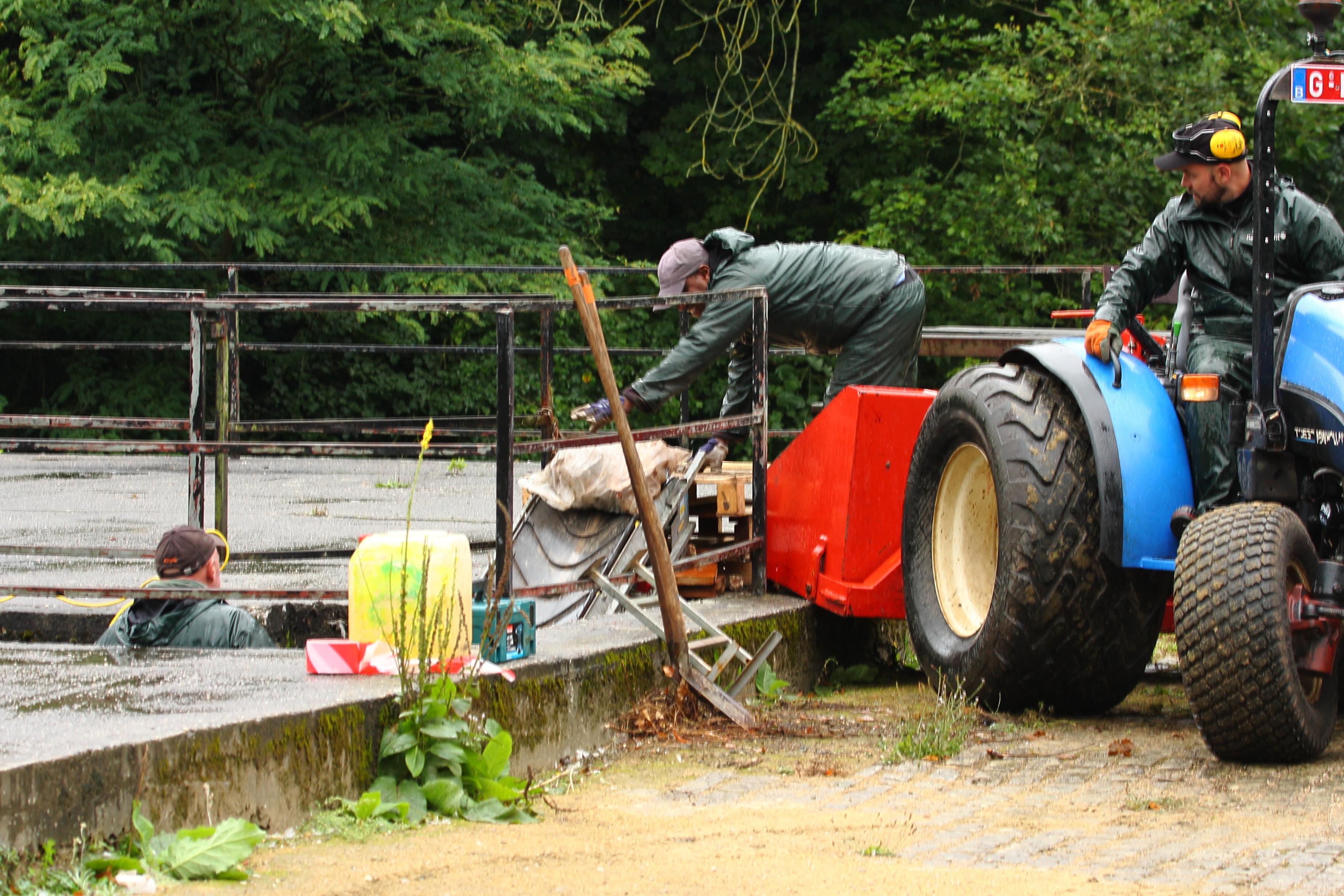 verwijderen van 20 ton puin