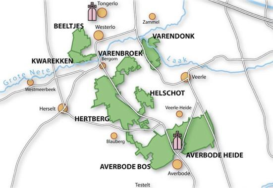 Kaart ligging Averbode Bos & Heide