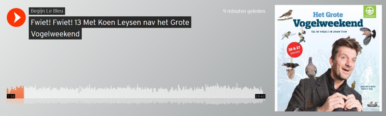 Luister naar de podcast van Begijn Le Bleu