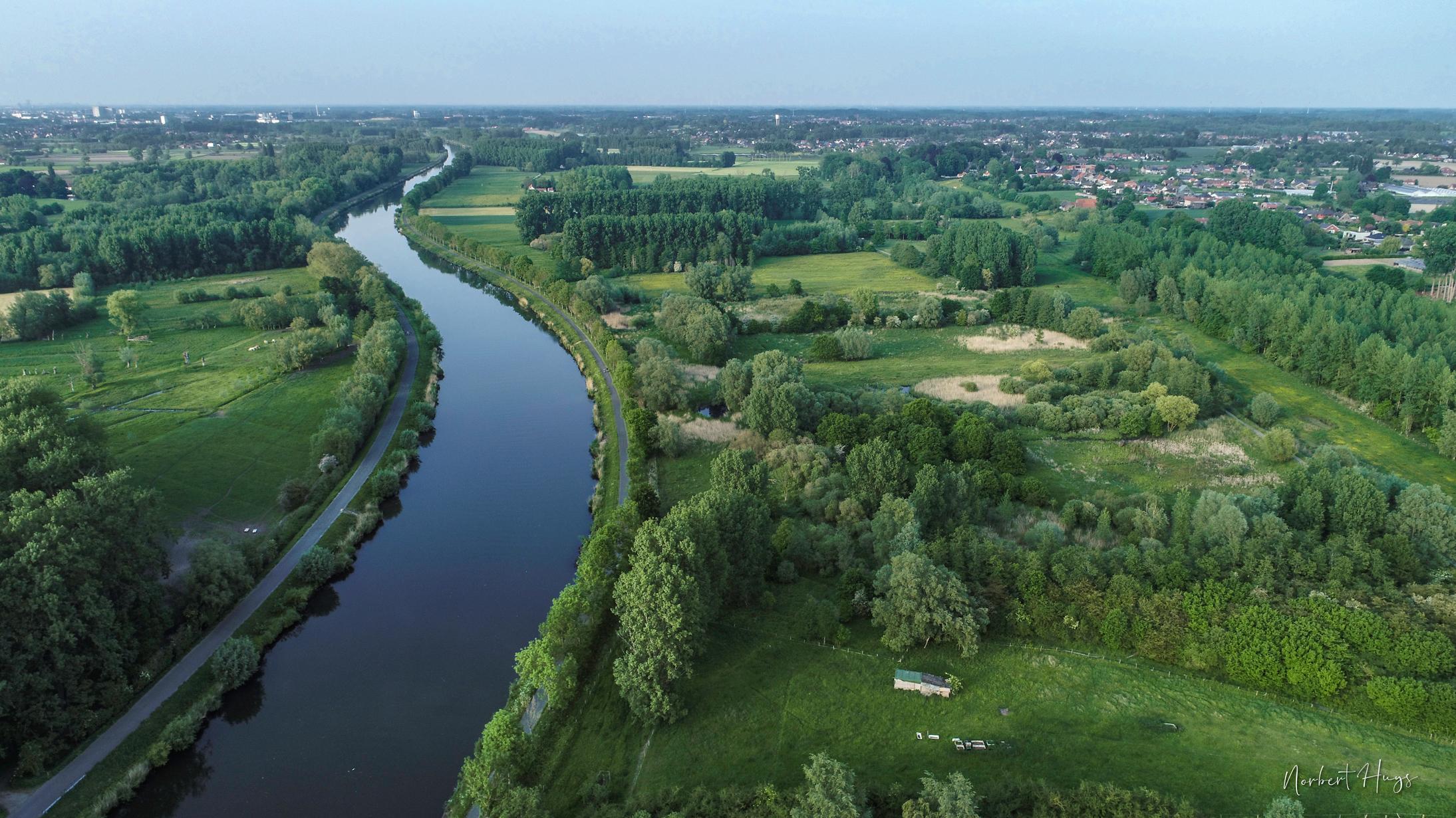 De Schelde in Merelbeke - Zevergem met de natuurgebieden