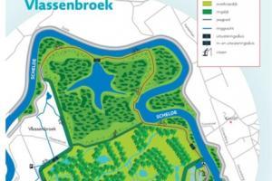 Kaart van het nieuwe overstromingsgebied