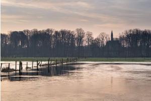 Wetland met zicht op het kasteel in Schelderode