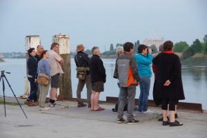 Fintenwatchers langs de Rupel in Niel