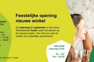 Opening nieuwe wereldwinkel met Natuur.corner
