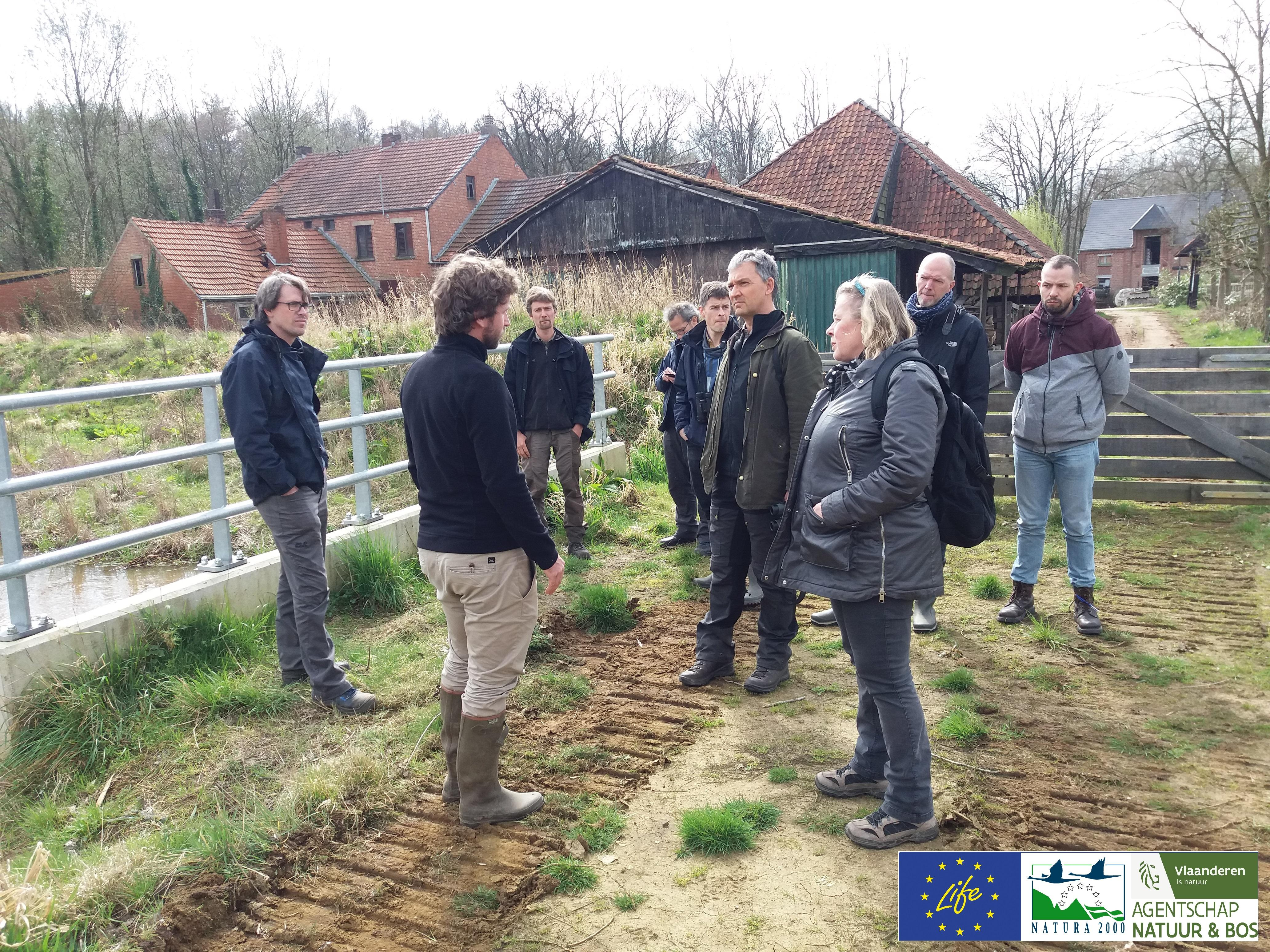 bezoek Europese Commissie en Neemo aan LIFE+ Grote Netewoud