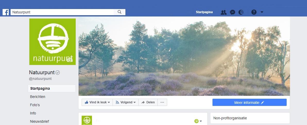 Natuurpunt blijven zien op Facebook? Dat doe je zo