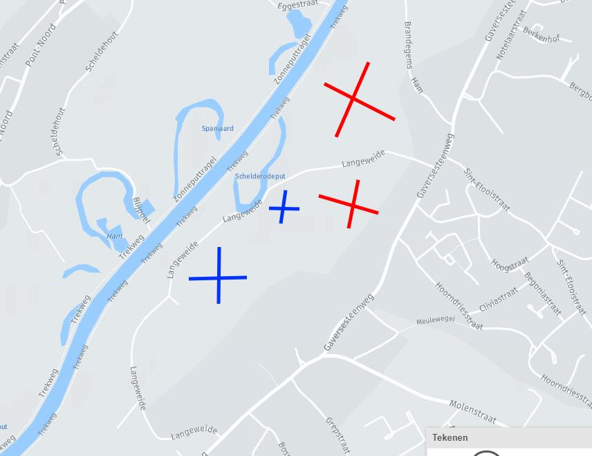 Schaatsmogelijkheden in de Scheldevallei in Merelbeke
