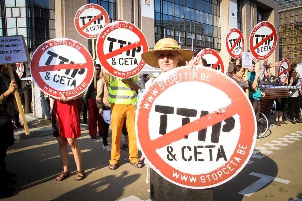 Op dinsdag 20 september neemt de Belgische milieubeweging onder de slogan 'People and planet before profit' deel aan de 'National Stop TTIP & CETA Day'.