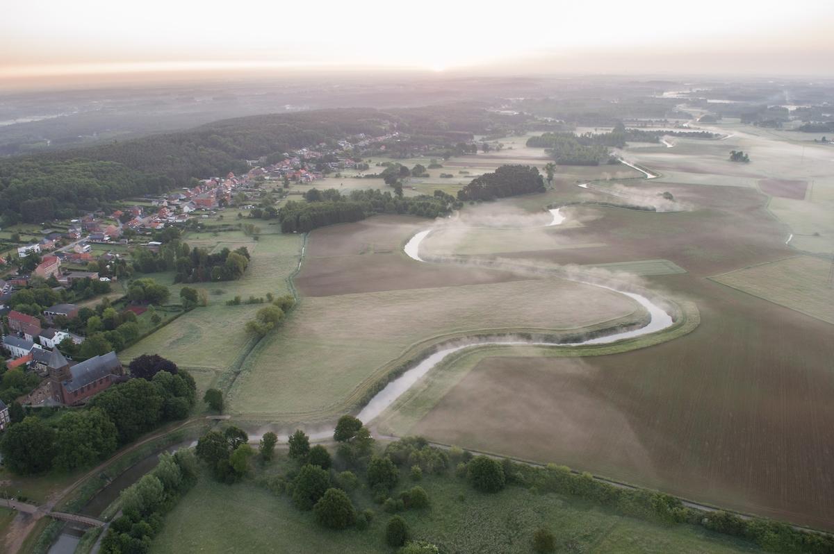 Foto vallei vanuit de lucht Wim Dirckx