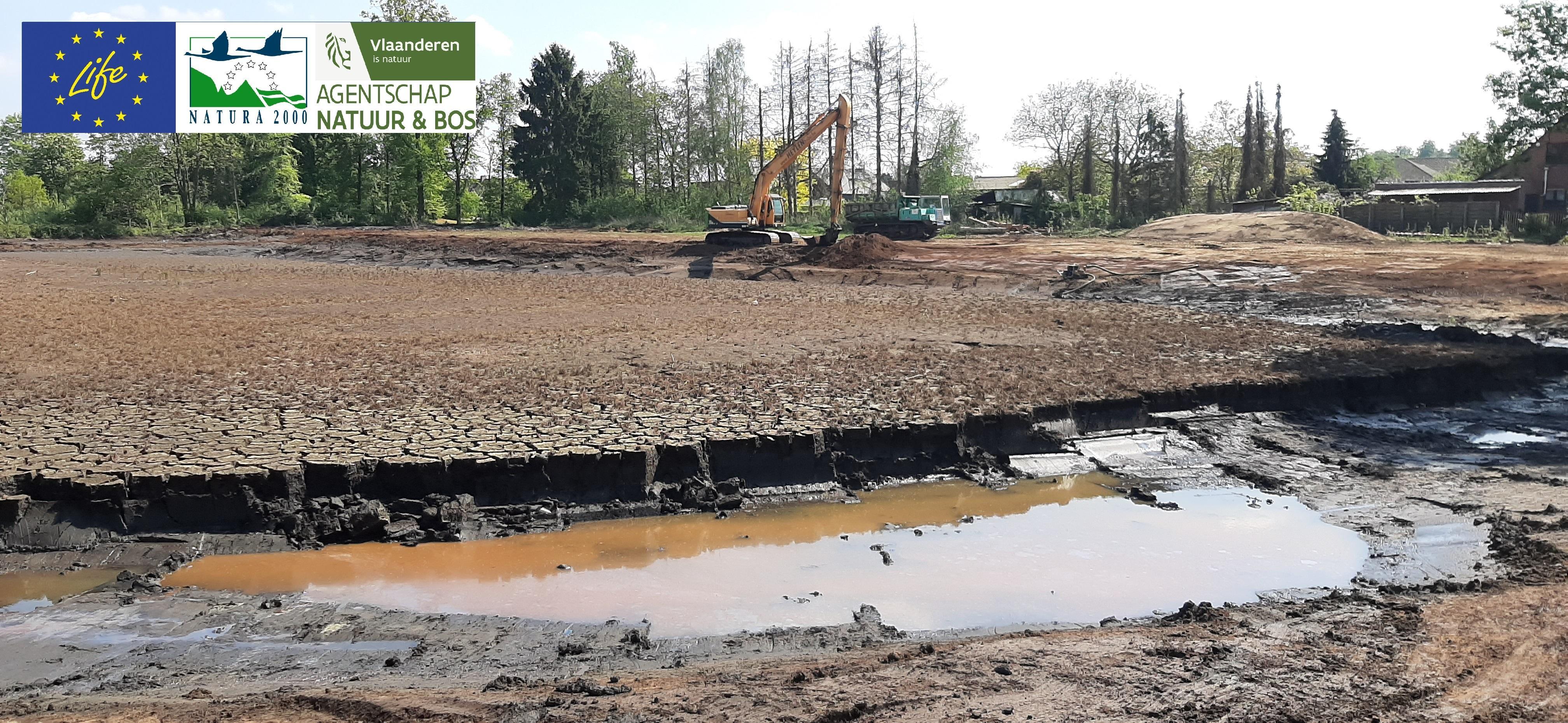 inrichting buitenomgeving site watermolen Bels Broek en Heide