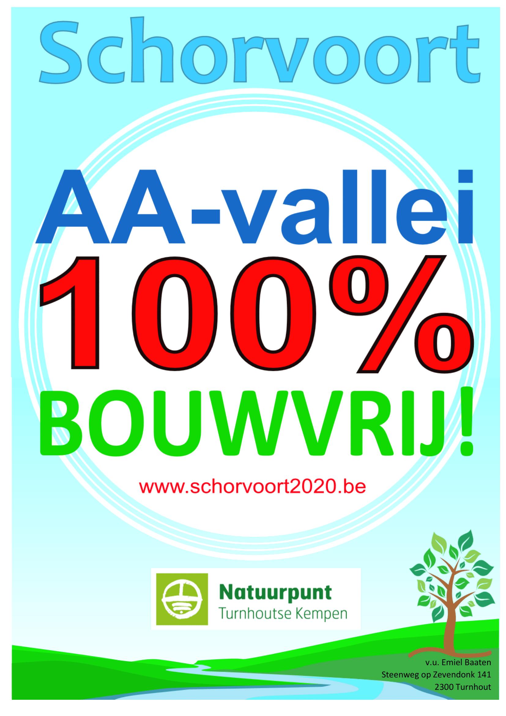 AA-vallei 100% bouwvrij