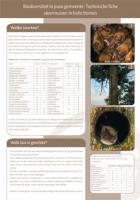 Technische fiche Vleermuizen in holle bomen
