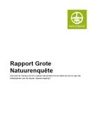 Rapport Grote Natuurenquete